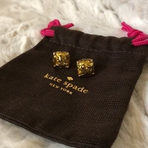 Kate Spade ♠️ Gold Glitter earrings!💖